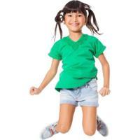 Blusa Infantil Pala Renascença Reserva Mini Feminina - Feminino-Verde