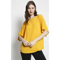 Blusa Lisa Com Recorte- Amarela- Forumforum