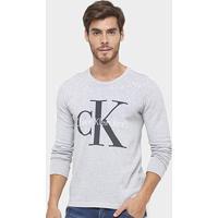 Suéter Calvin Klein Logo - Masculino