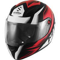 Capacete Moto Fechado Mix Mx2 Storm Vermelho E Preto Fosco