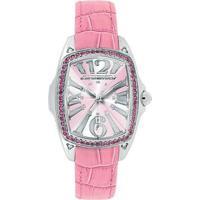 Relógio De Pulso Chronotech Prisma Lady Night - Aço - Feminino-Prata+Rosa
