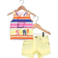 Conjunto 2Pçs Marisol Long Live Infantil Amarelo/Rosa