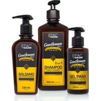 Kit Shampoo 2 Em 1 + Bálsamo + Gel Para Barbear Efac Gentleman Edition
