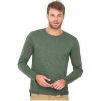 Camiseta Especial Manga Longa Polo Wear Verde Médio Verde Alga