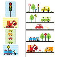 Adesivo De Parede Quartinhos Carros Na Cidade E Placas Decorativas