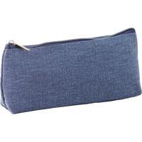 Estojo Escolar Feminino Ls Ee1237 Blue Jeans - Kanui