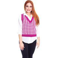 Colete Moda Vício Trico Petit Poule Pink