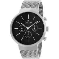 Relógio Oslo Masculino - Ombsscvd0001.P1Sx - Prata