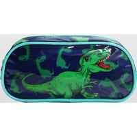 Estojo Dinossauro Infantil Luxcel (Verde, Único)