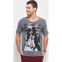 Camiseta Bossa Brasil Não Perturbe Masculina - Masculino-Chumbo