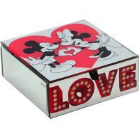 Porta Joias Love Disneyâ®- Espelhado & Vermelho- 6,5Xmabruk