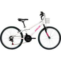 Bicicleta Caloi Ceci - Aro 24 - Freio V-Brake - 21 Marchas - Feminina - Infantil - Branco