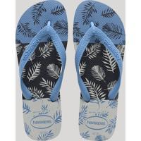 fa590ebc65 CEA  Chinelo Havaianas Masculino Estampado De Folhagens Azul