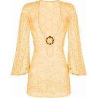 Dodo Bar Or Vestido Jane De Crochê - Amarelo