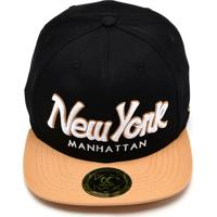 Boné Other Culture Snapback New York Run Preto/Bege