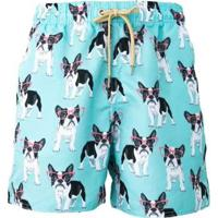 Short Tactel Bulldog Praiar Masculino - Masculino-Azul