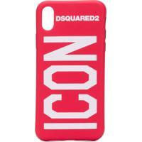Dsquared2 Iphone X Icon Case - Vermelho