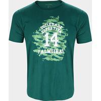 Camiseta Palmeiras College Masculina - Masculino