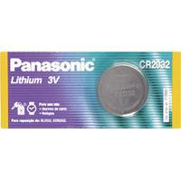 Bateria Panasonic De Lithium Botão Cr2032 3V Com 1 Unidade