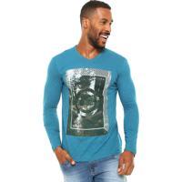 Camiseta Malwee Estampa Azul