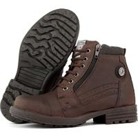 Bota Casual Fortway 2077Inf Marrom