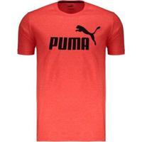 Camiseta Puma Essentials Heather - Masculino-Vermelho