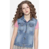 """Colete Jeans """" Rock""""- Azulcalvin Klein"""
