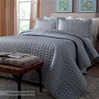 Conjunto De Colcha Home Design Queen Size - Cinza - Corttex