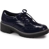 Sapato Oxford Feminino Quiz - Marinho