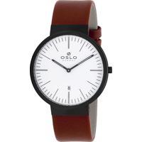 Relógio Oslo Masculino - Ompscs9U0001 B1Mx - Preta