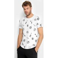 Camiseta Opera Rock Full Print Elementos Masculina - Masculino-Off White