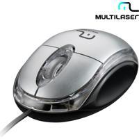 Mouse Óptico Classic Box Prata - Multilaser - Possui 3 Botões, Resolução De 800Dpi , Conexão Via Usb, Design Ergonômico - Mo180