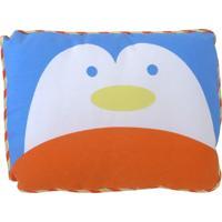 Travesseiro Minasrey Pinguim Carinhas Azul