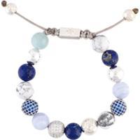 Nialaya Jewelry Pulseira De Prata Com Pedrarias - Azul