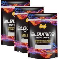 Combo - 3 Albumina Refil - 500G - Naturovos - Unissex-Morango
