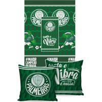 Manta Almofada Jolitex Palmeiras