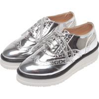 Sapato Contramão Oxford Prata