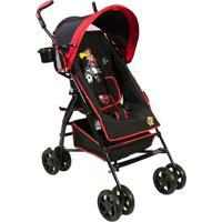 Carrinho De Bebê Guarda Chuva Times Naskinha - Masculino-Preto+Vermelho