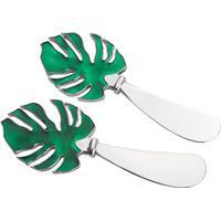 Jogo De Espátulas Costela De Adão- Prateado & Verde Escurojemac