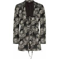 Comme Des Garçons Homme Plus Blazer Jacquard Buy Or Die - Preto