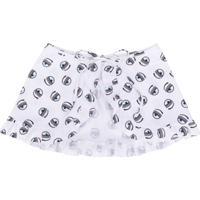 Chiara Ferragni Kids Flirting Swimsuit Skirt - Branco