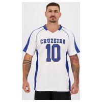 Camiseta Cruzeiro Futebol Americano Branca E Royal