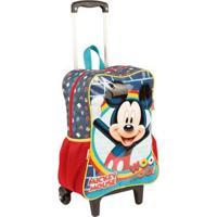 Mochilete Grande Mickey 19M Infantil Sestini - Masculino-Vermelho