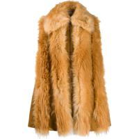Stella Mccartney Fur Free Fur Zipped Gilet - Marrom