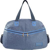 Bolsa De Viagem Com Bolsos- Azul & Azul Claro- 30X45Jacki Design