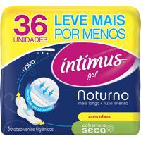 Absorvente Intimus Gel Noturno Longo Cobertura Seca Com Abas Com 36 Unidades Leve+ Por-