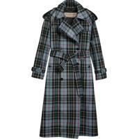 Burberry Trench Coat Xadrez - Azul