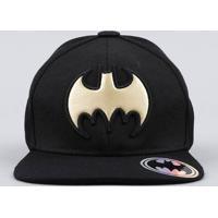 Boné Infantil Aba Reta Batman Preto