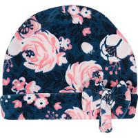 Touca Floral Com Laço- Azul Marinho & Rosatip Top