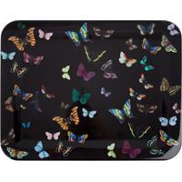 Fornasetti Bandeja Preta Modelo 'Butterfly On Black'. - Preto